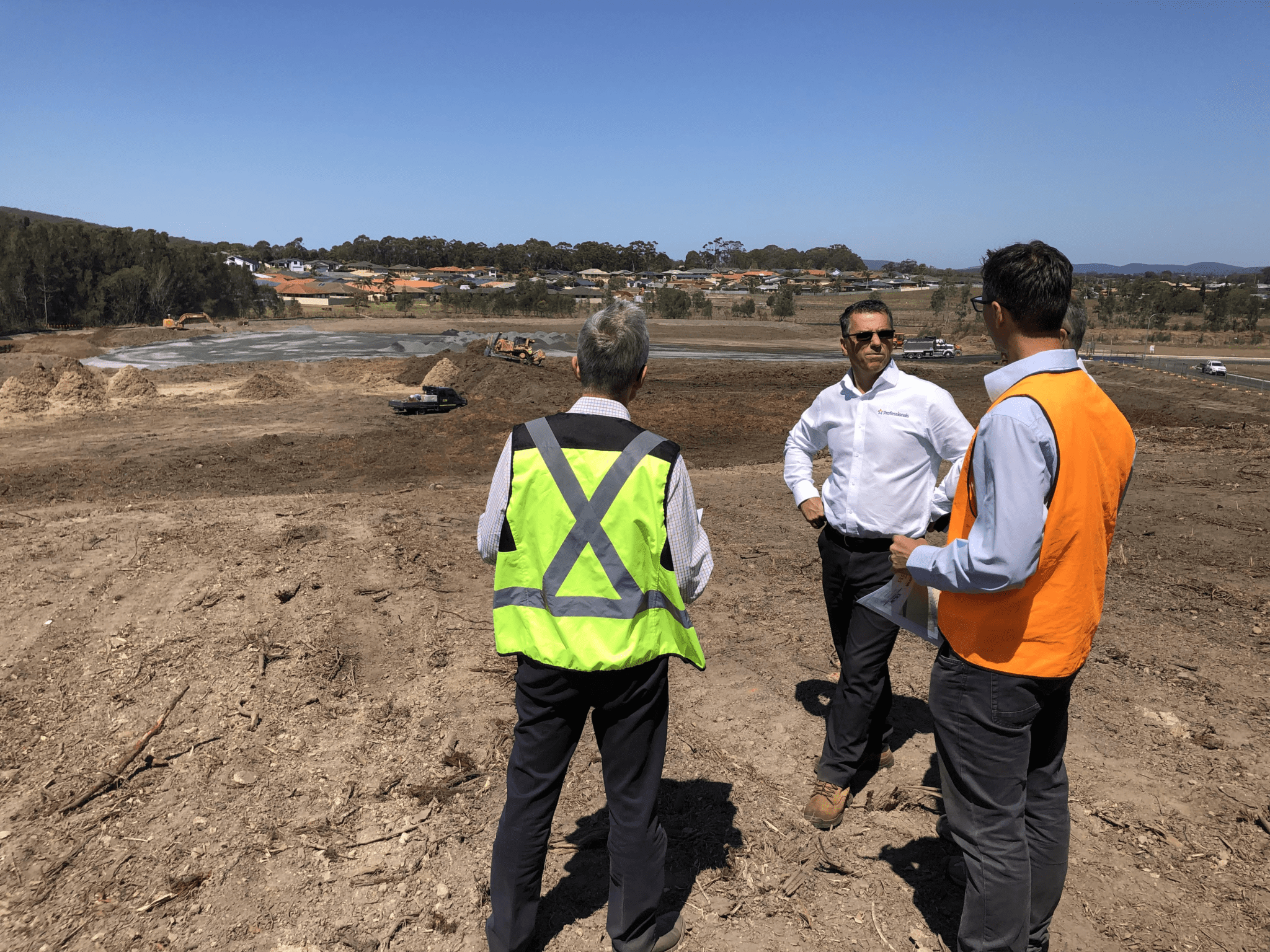 Wakefield Ashurst consultants reviewing the development of The Grange, Forster NSW.